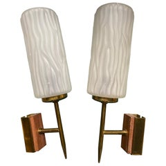 Gio Ponti 'In the style of', Pair of Wall Lights, 1955