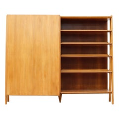Gio Ponti Inspired Italian Wardrobe with Bookshelf