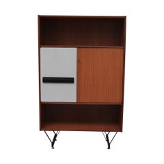 Gio Ponti Inspired Midcentury Two-Toned Italian Wardrobe