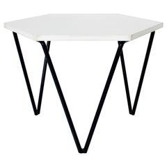 Gio Ponti Italian Coffee or Side Table, I.S.A. Italia circa 1950 White Laminate