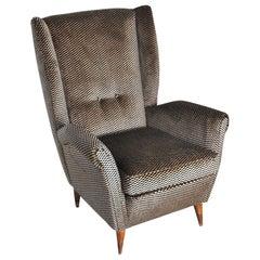Gio Ponti Italian Mid Century Armchair from 50's