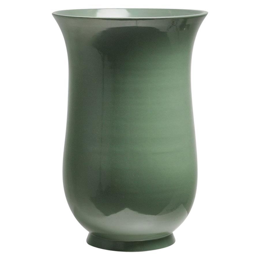 Gio Ponti Large Vase in Polychrome Ceramic Richard Ginori 1930-40