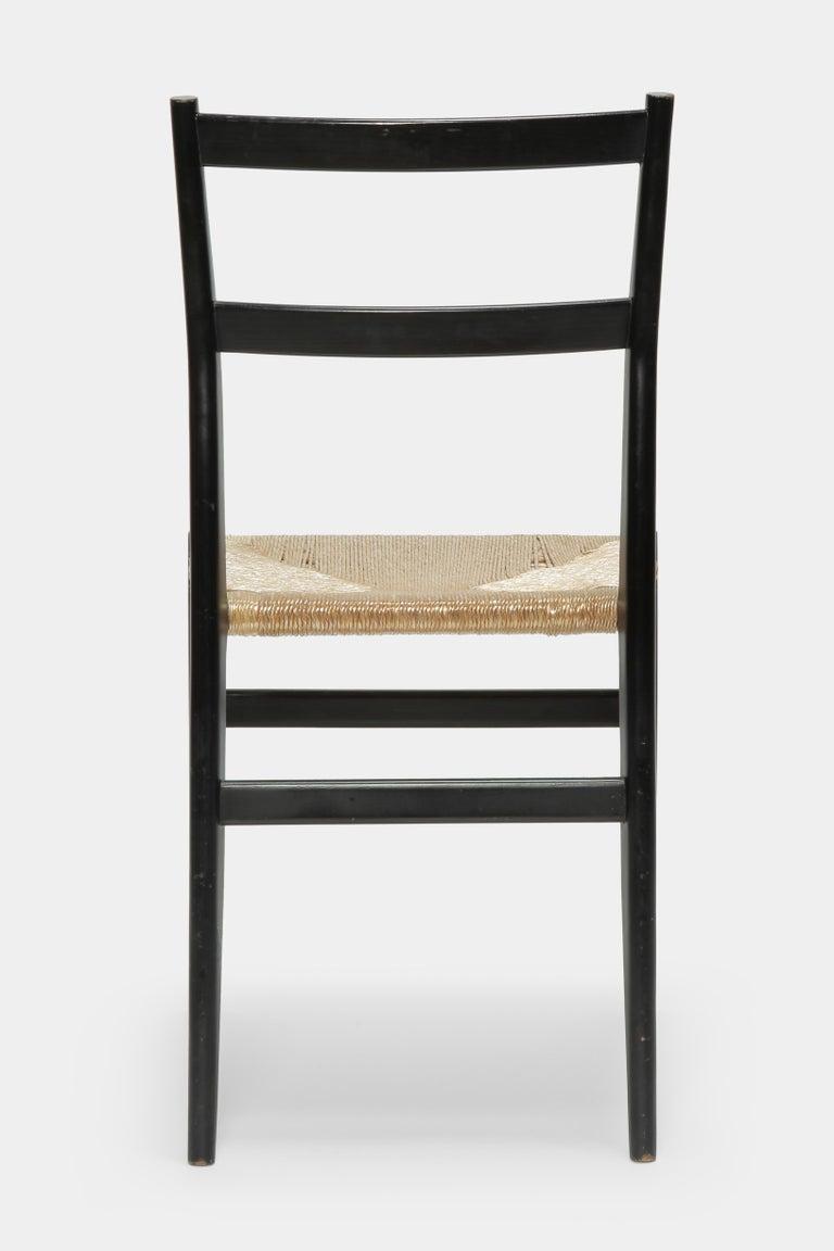Mid-Century Modern Gio Ponti Leggera Chair Cassina, 1960s For Sale