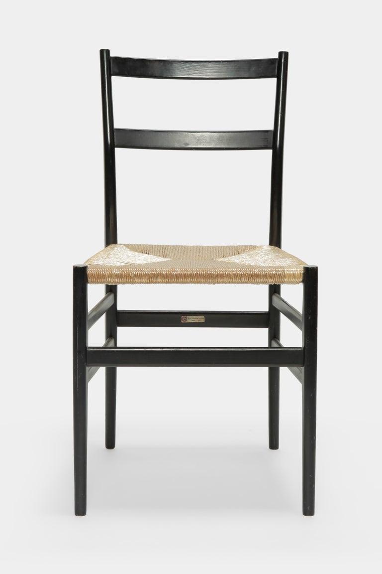 Mid-20th Century Gio Ponti Leggera Chair Cassina, 1960s For Sale