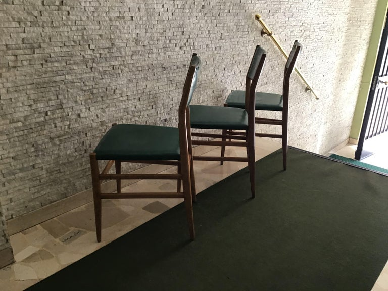 "Other Gio Ponti ""Leggera"" Chairs by Cassina 1951 Wood Original Coating, Italy For Sale"