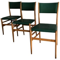 "Gio Ponti ""Leggera"" Chairs by Cassina 1951 Wood Original Coating, Italy"