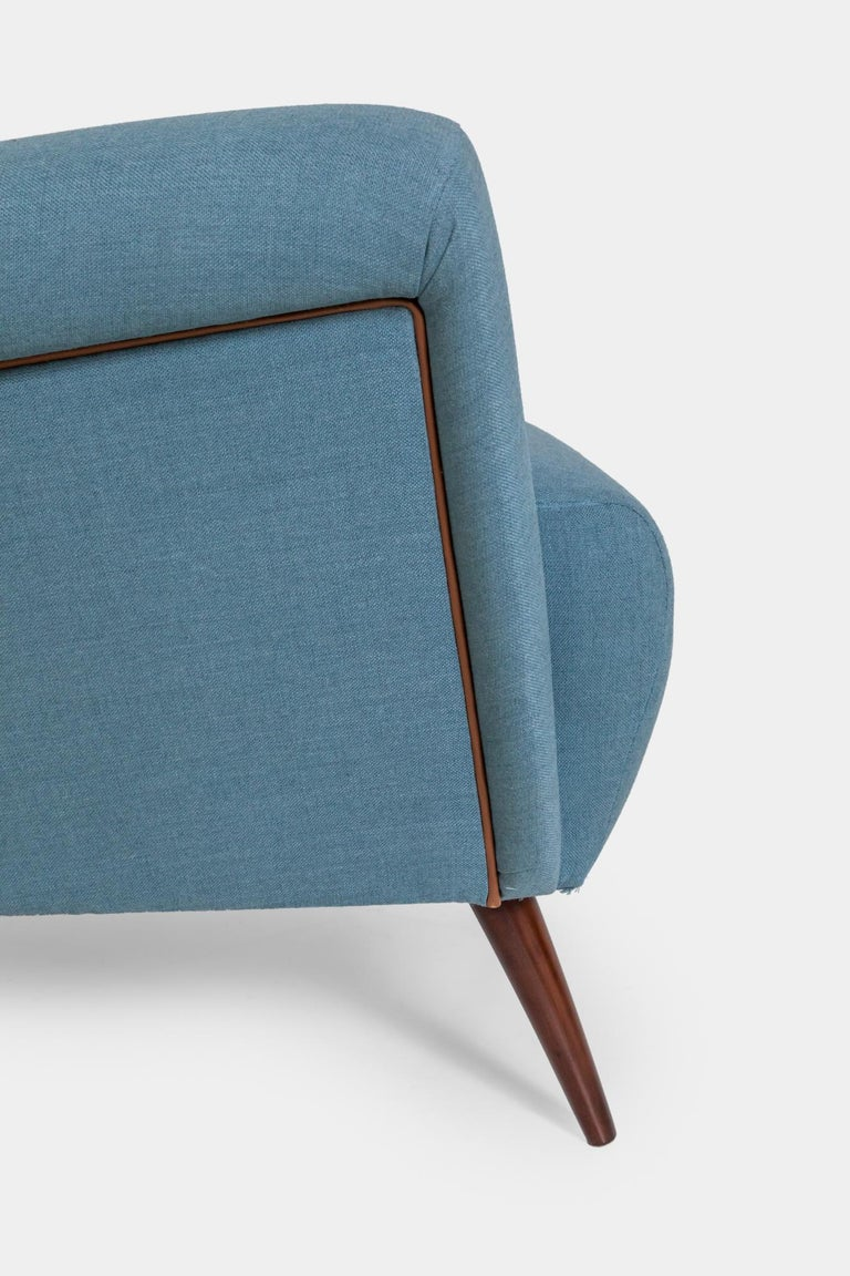 Upholstery Gio Ponti Wingback or Lounge Chair For Sale