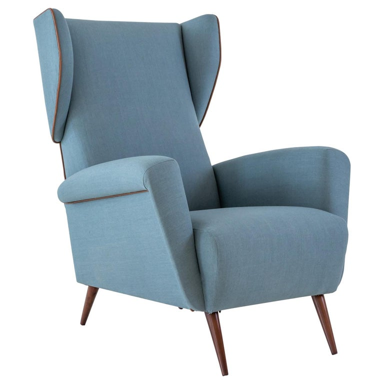Gio Ponti Wingback or Lounge Chair For Sale