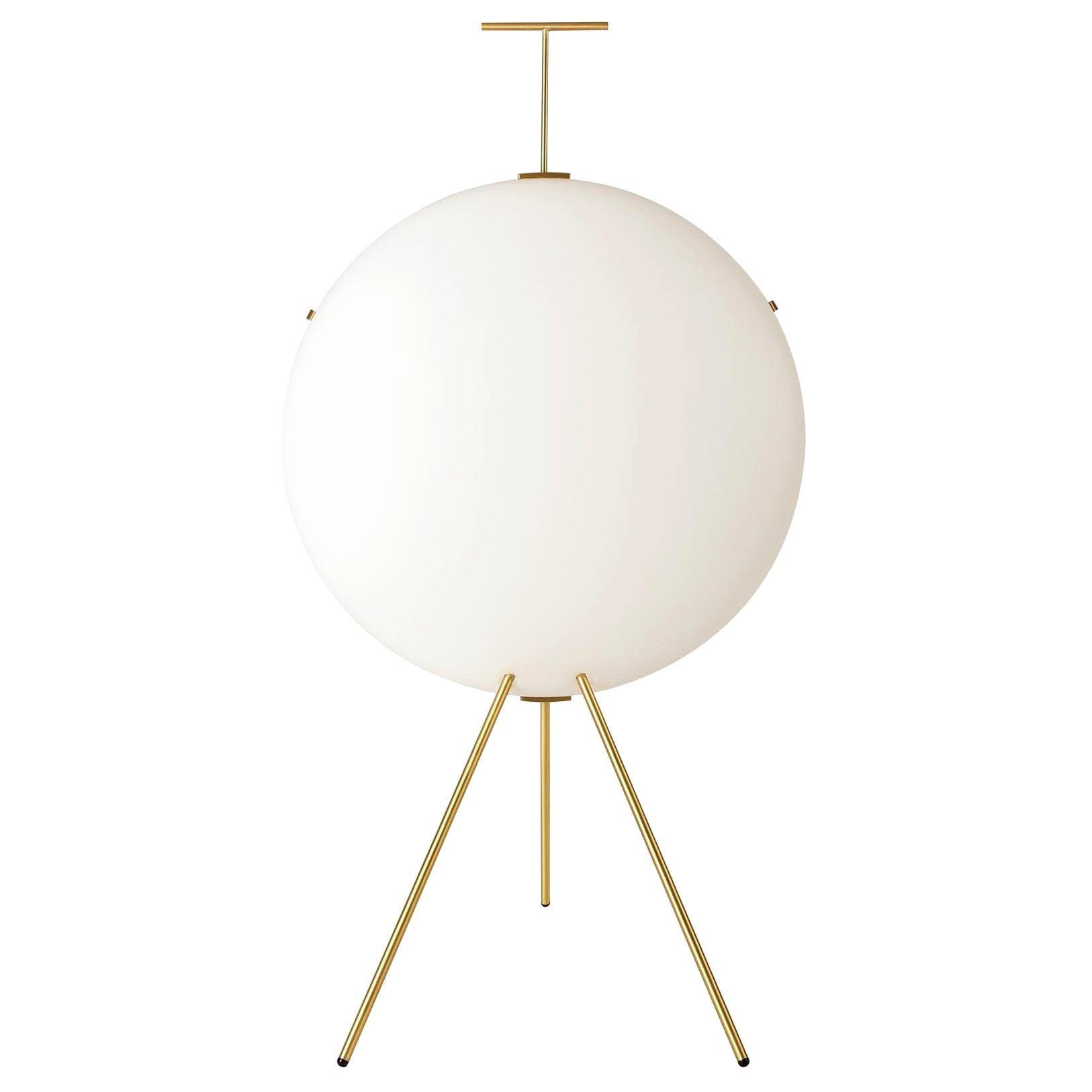 Gio Ponti Luna Verticale Floor Lamp in Brass