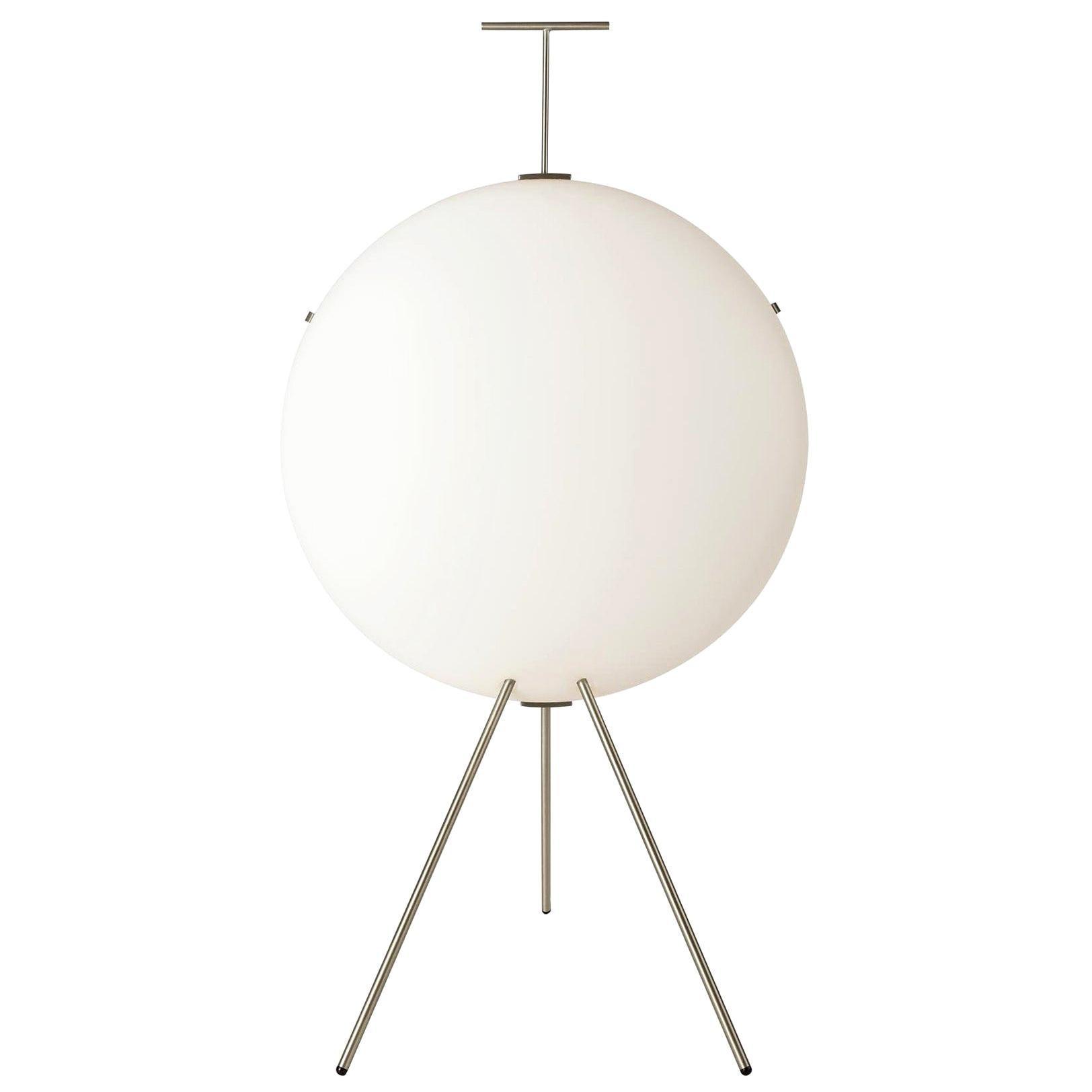 Gio Ponti Luna Verticale Floor Lamp in Nickel