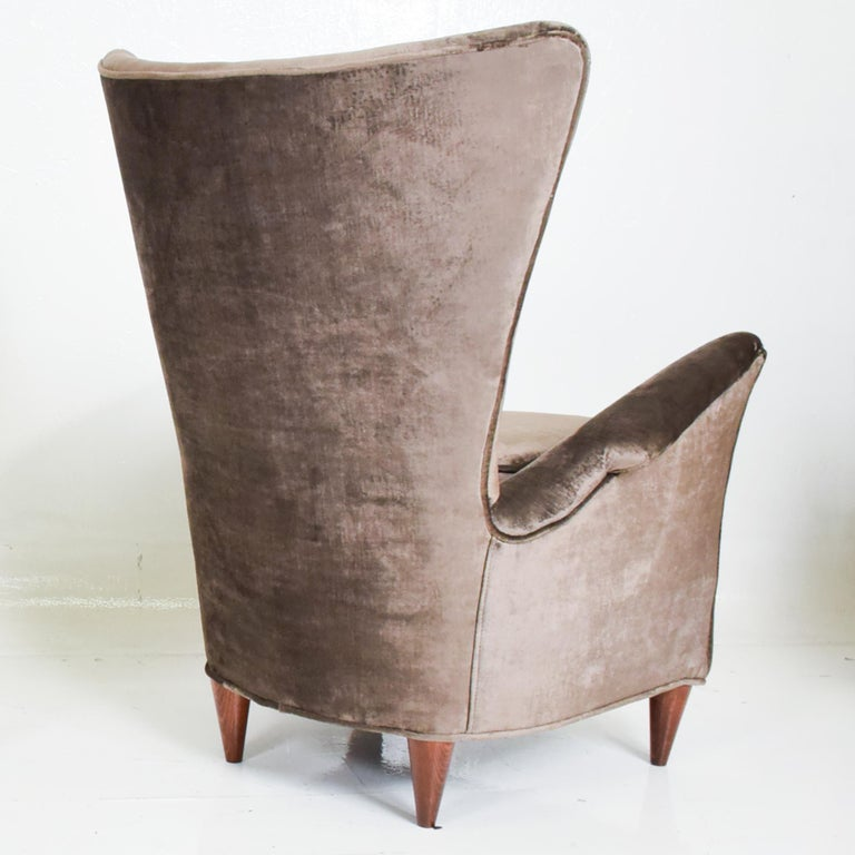 Mid-Century Modern Gio Ponti Luxury Lounge Arm Chair Pair from Hotel Bristol Merano, Italy 1950s For Sale