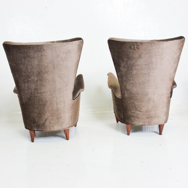 Italian Gio Ponti Luxury Lounge Arm Chair Pair from Hotel Bristol Merano, Italy 1950s For Sale
