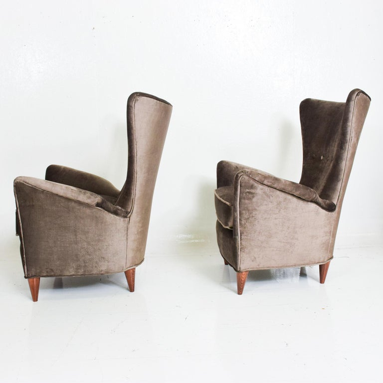 Mid-20th Century Gio Ponti Luxury Lounge Arm Chair Pair from Hotel Bristol Merano, Italy 1950s For Sale