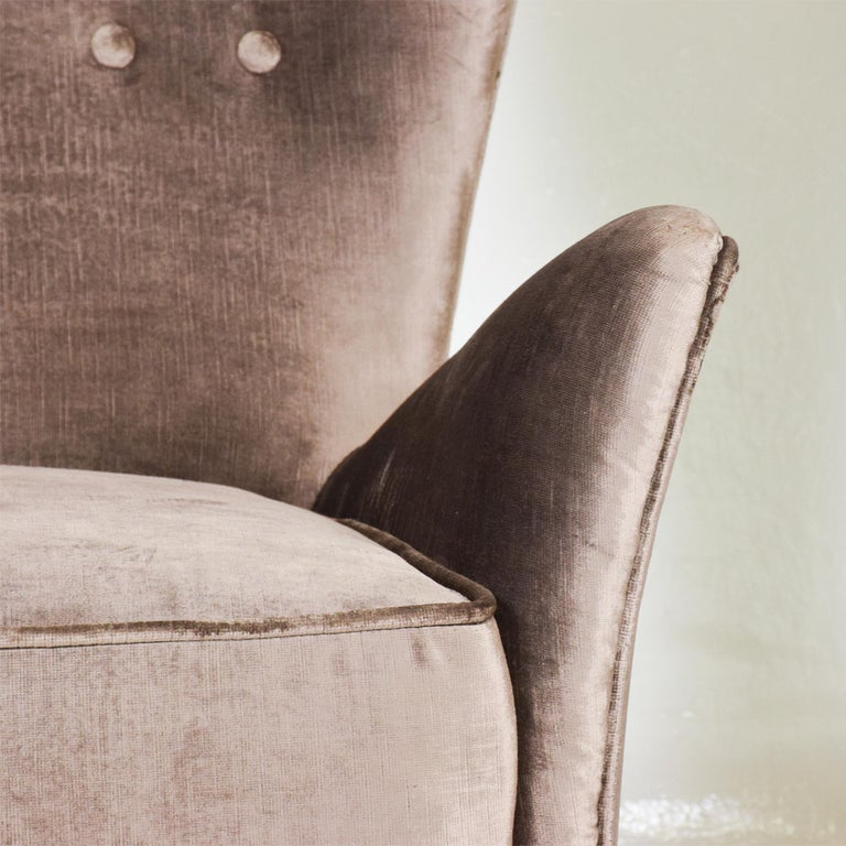 Gio Ponti Luxury Lounge Arm Chair Pair from Hotel Bristol Merano, Italy 1950s For Sale 2