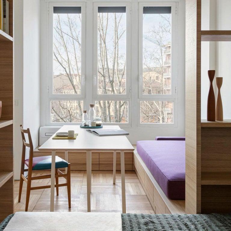 Gio Ponti Mid-Century Modern Ashwood Leggera Italian Chairs, 1950s In Good Condition For Sale In Milan, IT