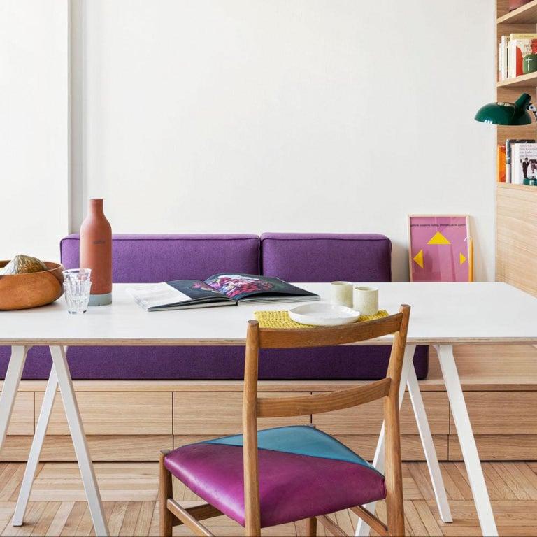 Gio Ponti Mid-Century Modern Ashwood Leggera Italian Chairs, 1950s For Sale 2
