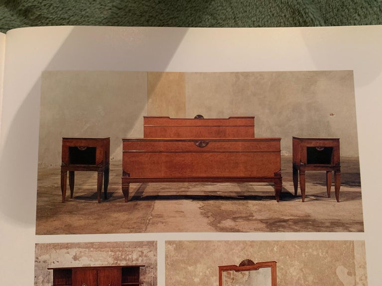 Mid-20th Century Gio Ponti Midcentury Double Bed in Walnut and Brass, Published, 1940s For Sale