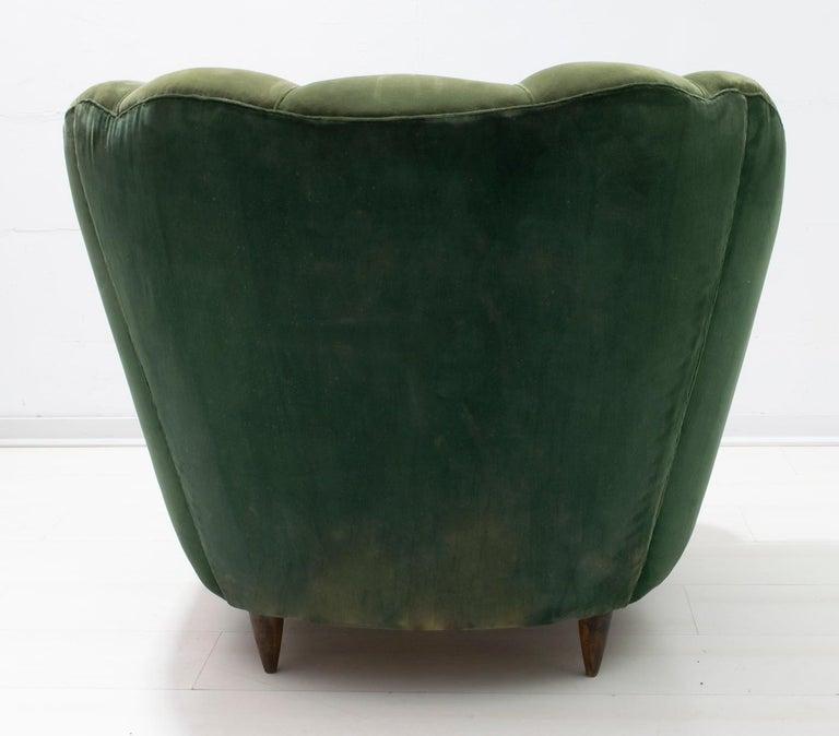 Gio Ponti Midcentury Rare Italian Curved Armchairs