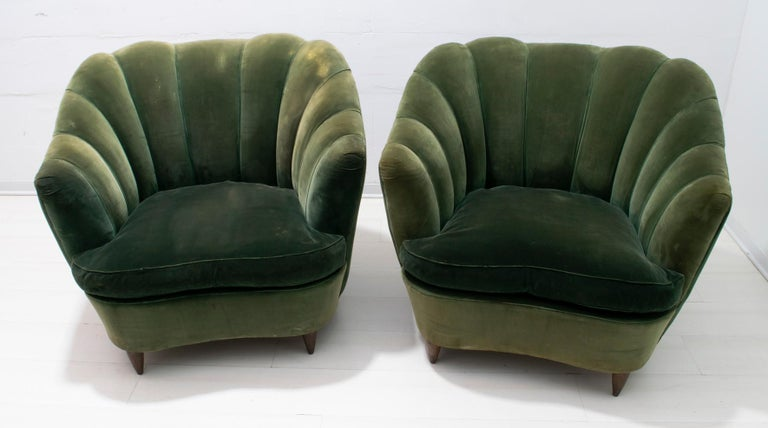 Rare pair of armchairs by Gio Ponti for