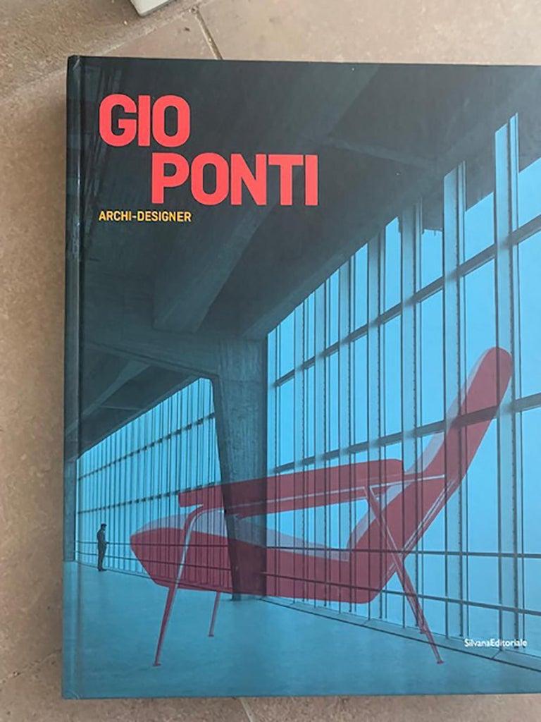 Gio Ponti Midcentury Sofa in Orange Original Velvet, 1930s For Sale 5
