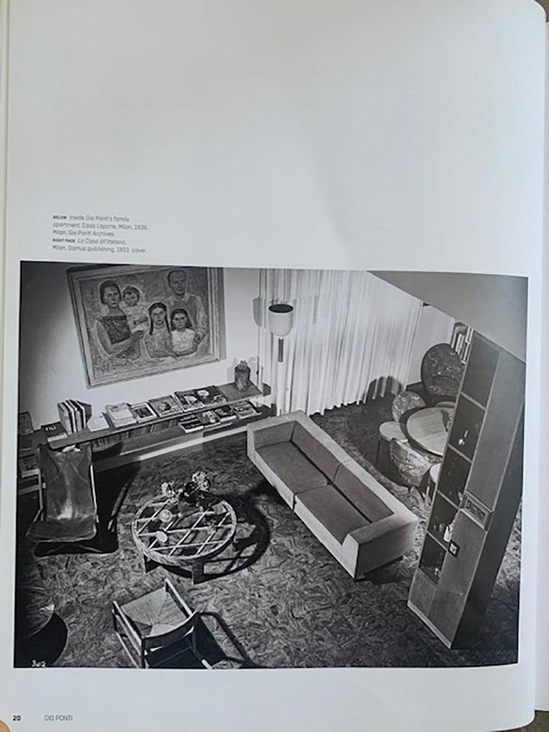 Gio Ponti Midcentury Sofa in Orange Original Velvet, 1930s For Sale 3