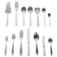 Gio Ponti Milano Stainless Steel Flatware 77 Pieces