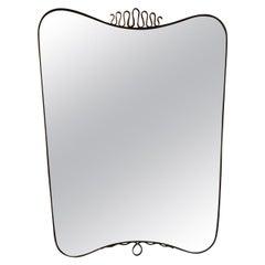 Gio Ponti Mirror Brass Glass, 1940, Italy