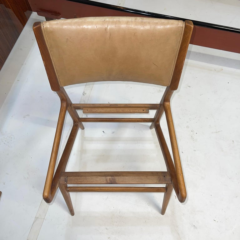 Leather Gio Ponti Model 688 Chair For Sale