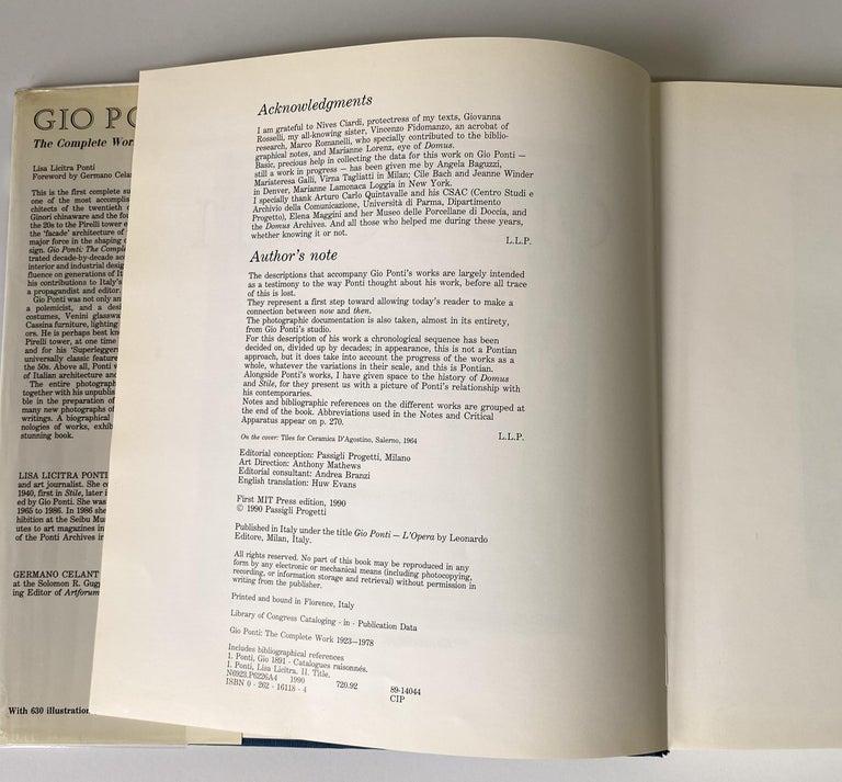 Italian Gio Ponti Monograph For Sale