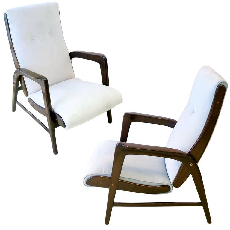 "Gio Ponti Pair of Armchairs from the ""Paradiso del Cevedale"" Hotel"