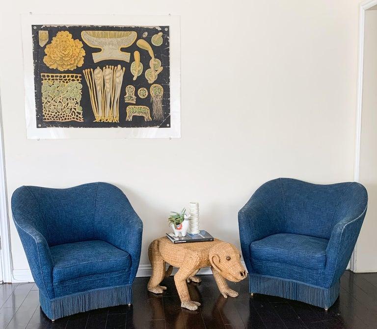 Gio Ponti Pair of Armchairs, Casa Giardino, Italy, 1950s In Good Condition For Sale In Tempe, AZ