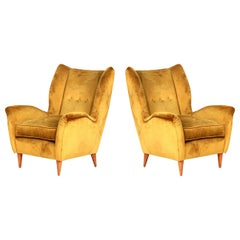 Gio Ponti Pair of Armchairs Model 512