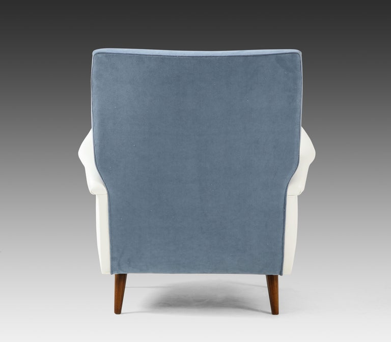 Mid-20th Century Gio Ponti Pair of Armchairs Model 803 For Sale