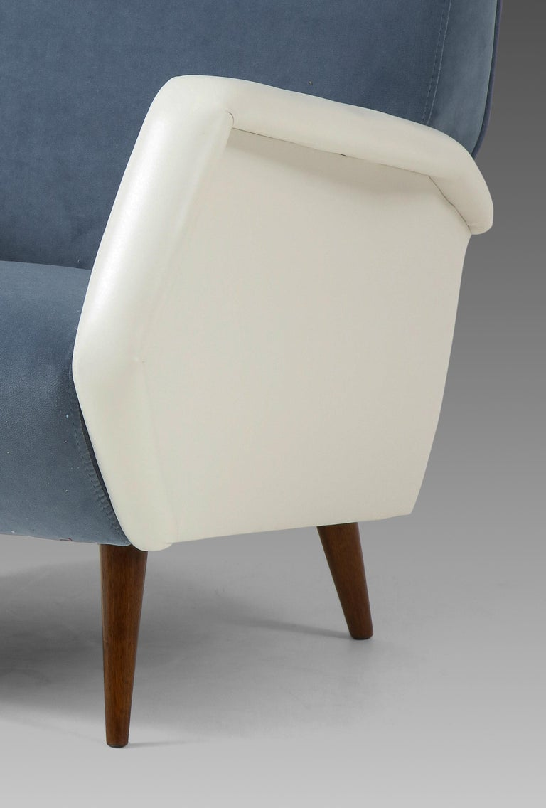 Gio Ponti Pair of Armchairs Model 803 For Sale 1
