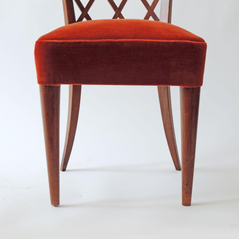 Gio Ponti Pair of Corridor Chairs, Italy, 1936 For Sale 3