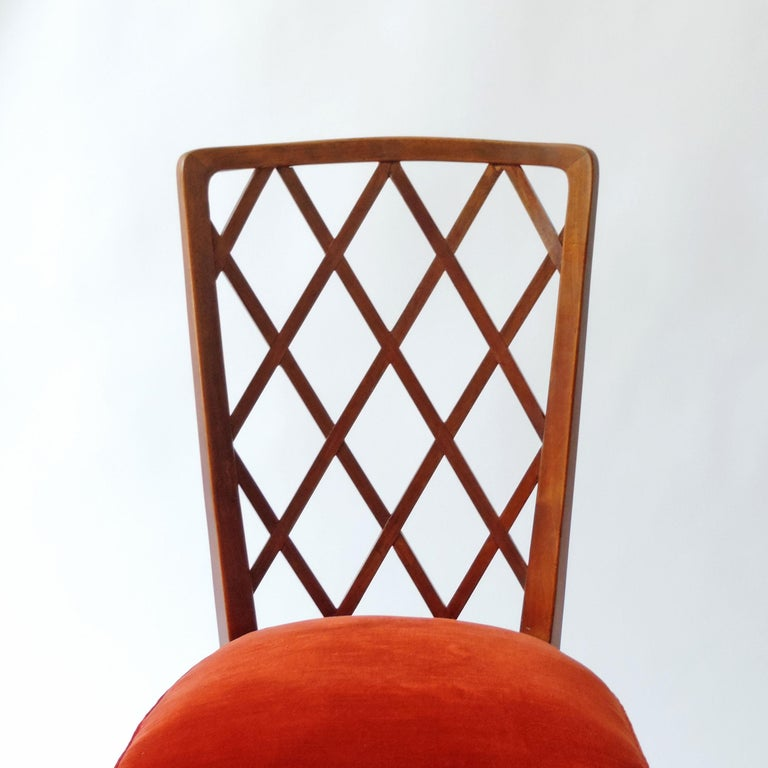 Art Deco Gio Ponti Pair of Corridor Chairs, Italy, 1936 For Sale