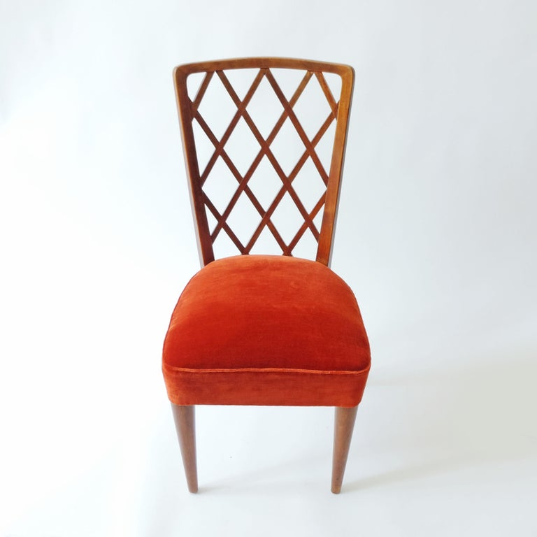 Italian Gio Ponti Pair of Corridor Chairs, Italy, 1936 For Sale