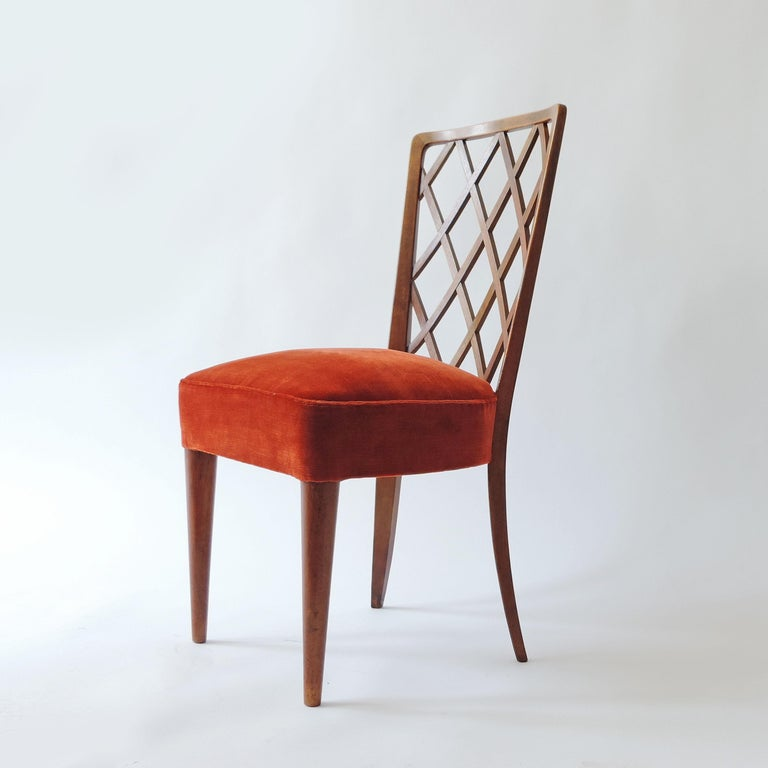 Gio Ponti Pair of Corridor Chairs, Italy, 1936 In Good Condition For Sale In Milan, IT
