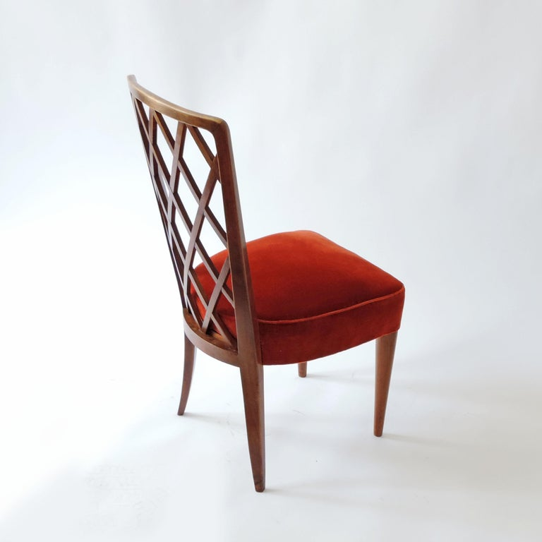 Mid-20th Century Gio Ponti Pair of Corridor Chairs, Italy, 1936 For Sale