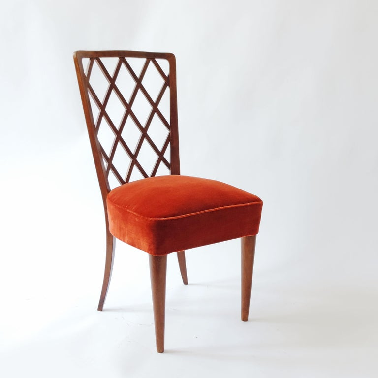 Upholstery Gio Ponti Pair of Corridor Chairs, Italy, 1936 For Sale