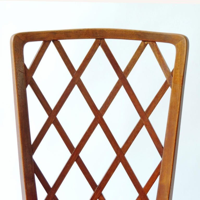Gio Ponti Pair of Corridor Chairs, Italy, 1936 For Sale 1