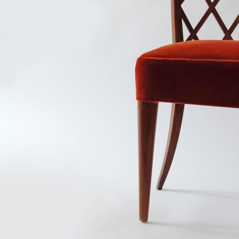 Gio Ponti Pair of Corridor Chairs, Italy, 1936 For Sale 2