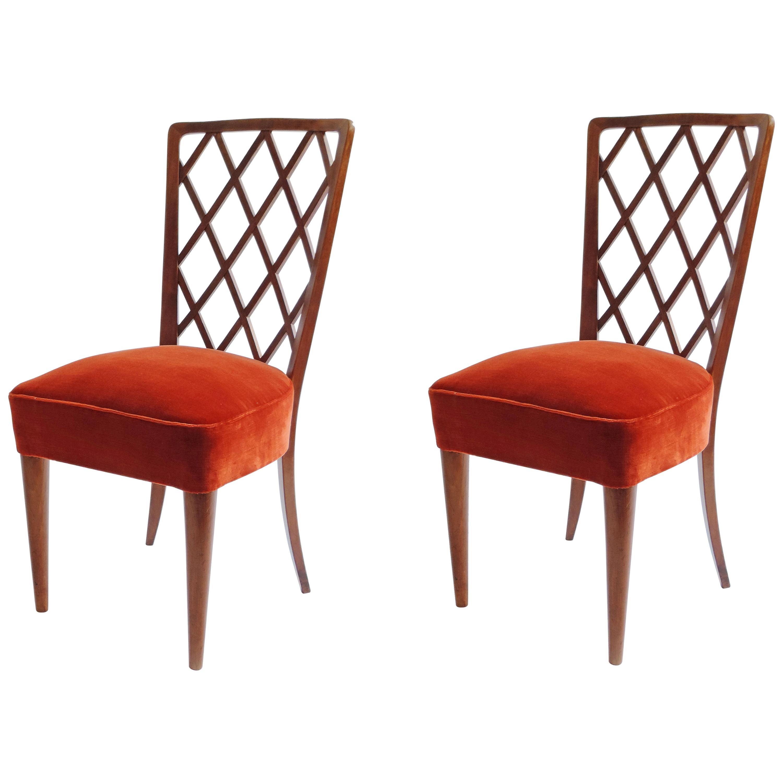 Gio Ponti Pair of Corridor Chairs, Italy, 1936