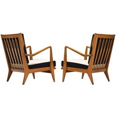Gio Ponti Pair of 'Model 516' Lounge Chairs for Cassina