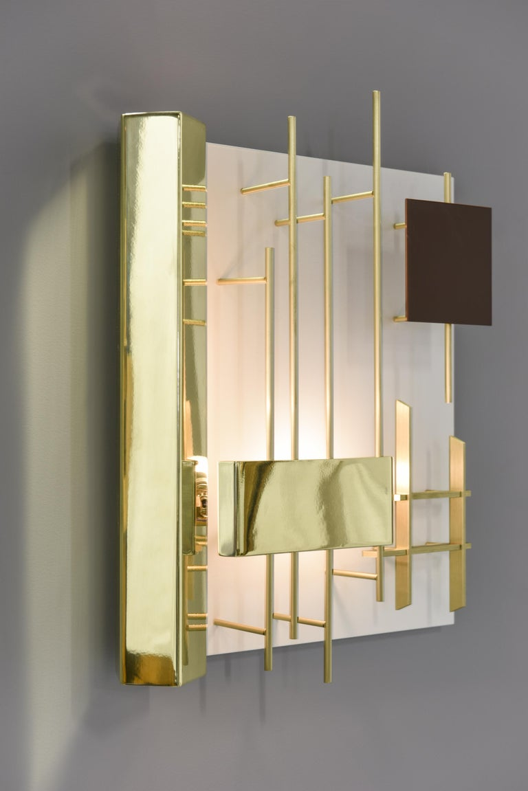 Gio Ponti Pair of Sculptural Wall Sconces Model 575 for Lumi Milano In Excellent Condition For Sale In Villeurbanne, Rhone Alpes