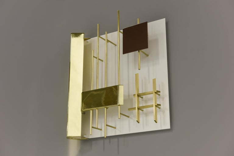 Gio Ponti Pair of Sculptural Wall Sconces Model 575 for Lumi Milano For Sale 1