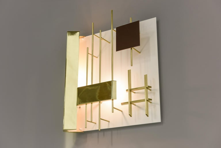 Gio Ponti Pair of Sculptural Wall Sconces Model 575 for Lumi Milano For Sale 2