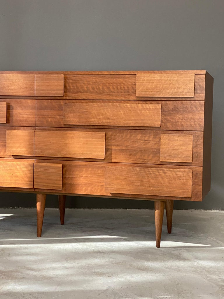 Gio Ponti, Rare Double Dresser, Walnut, for Singer & Sons, America, 1950s For Sale 2
