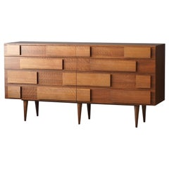 Gio Ponti, Rare Double Dresser, Walnut, for Singer & Sons, America, 1950s