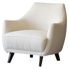 Gio Ponti, Rare Lounge Chair, Augustus Ocean Liner, Beach, Fabric, Italy, 1950